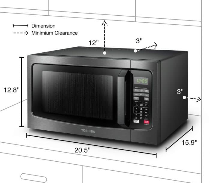 medium size microwave oven
