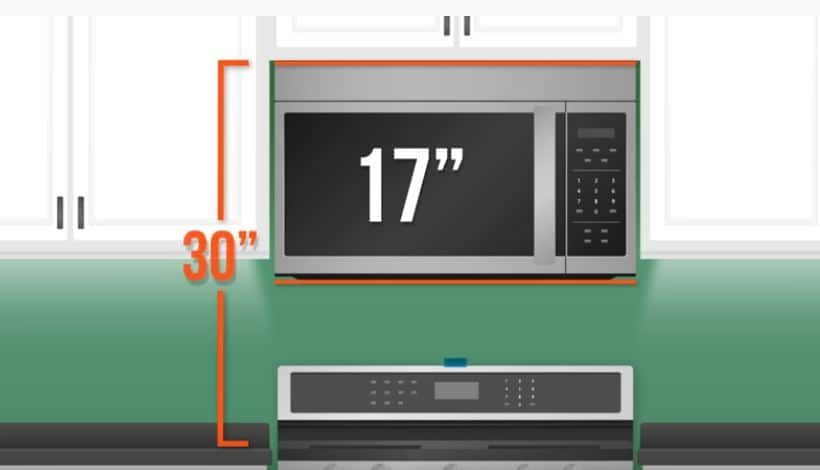 microwave otr height guide
