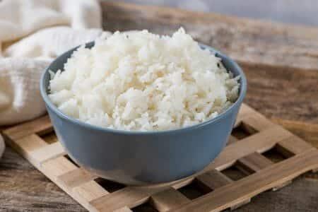 Jasmine rice cooked