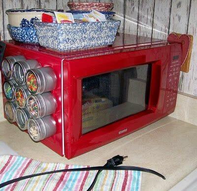 repurposed microwave oven
