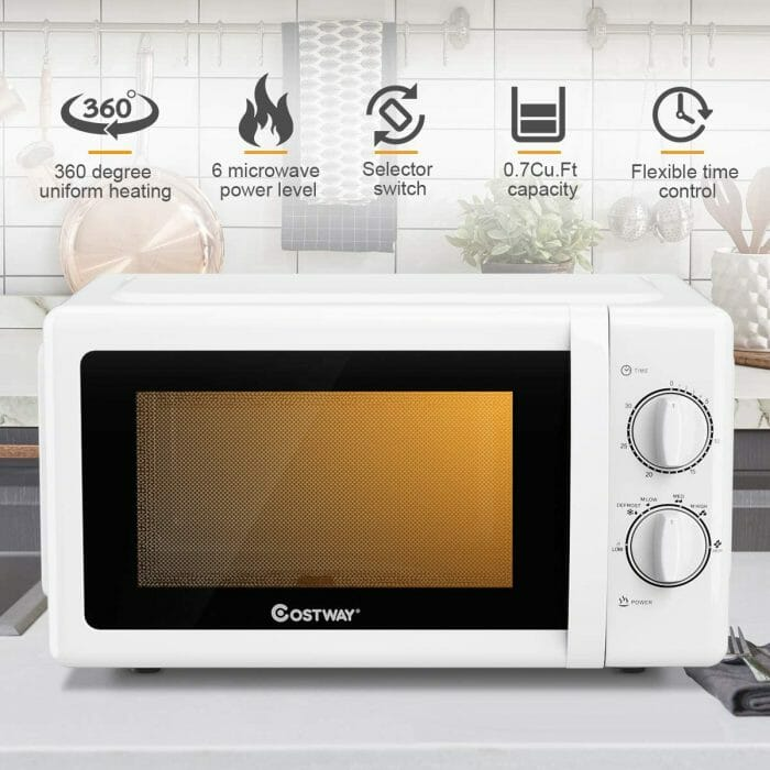 white microwave ovens