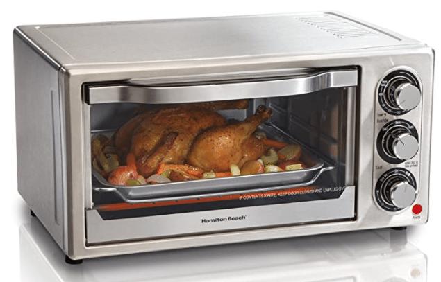 Hamilton Beach silver toaster oven