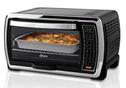black digital toast oven