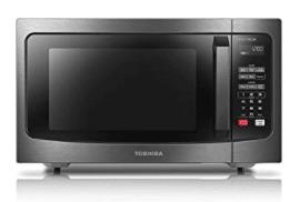 Toshiba black microwave oven
