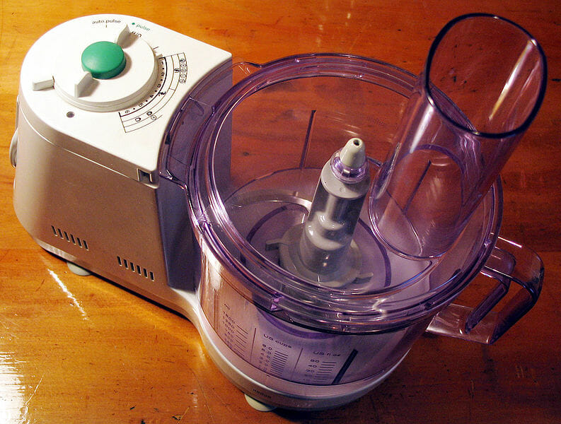 Food processor on the table