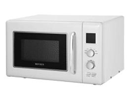 retro white microwave oven