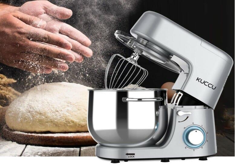 mixer making dough