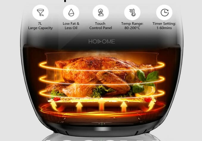 chicken in the fryer