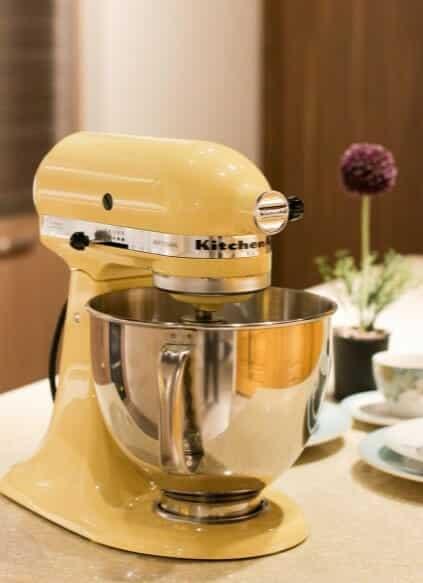 yellow stand mixer