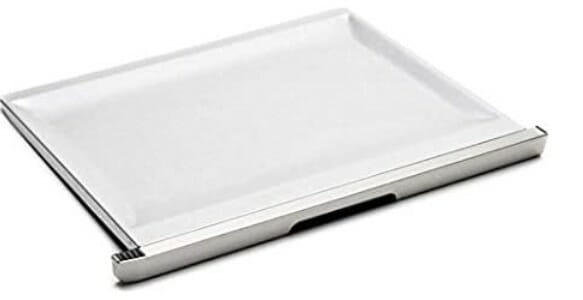 white crumb tray